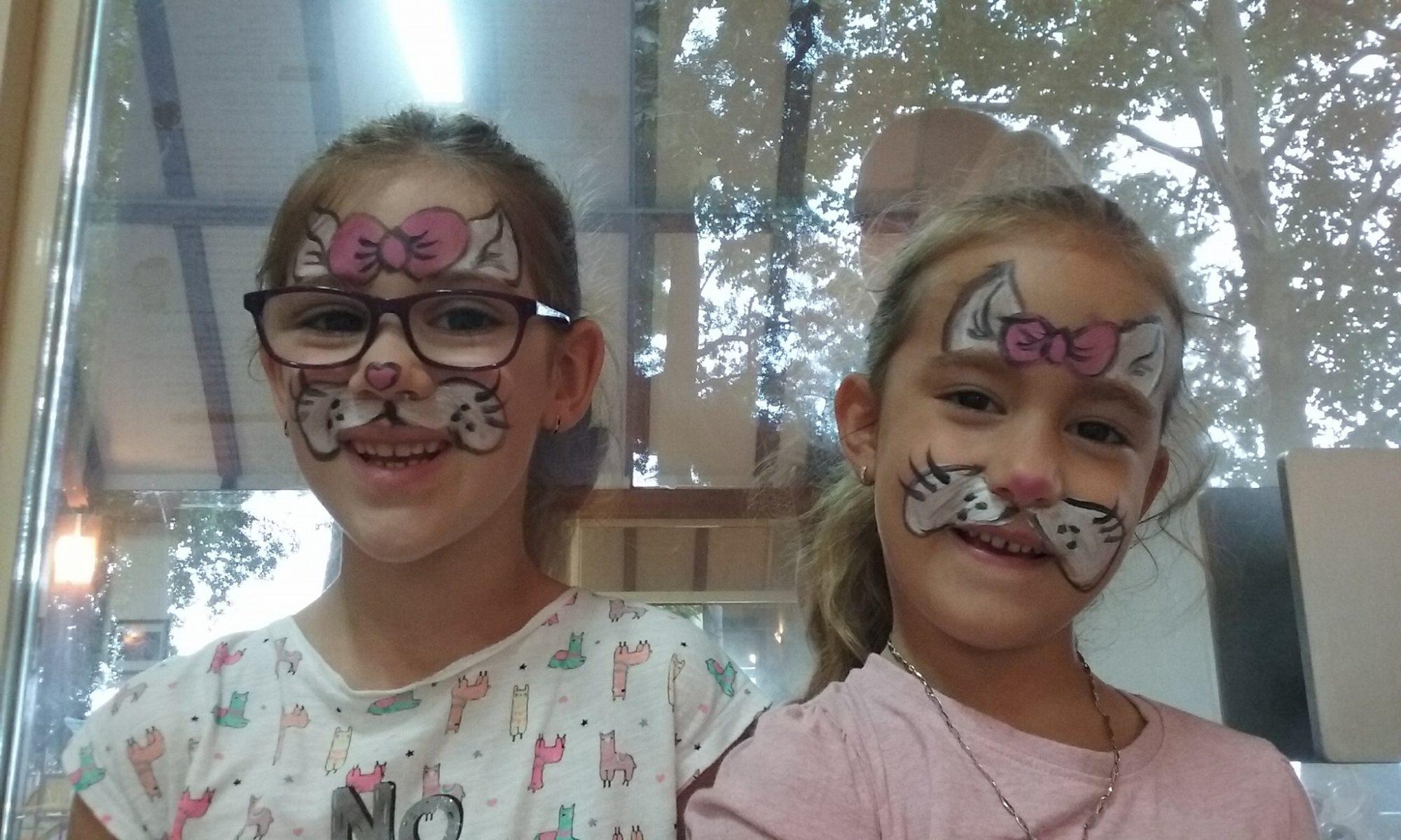 pillangó gyerek arcfestés
